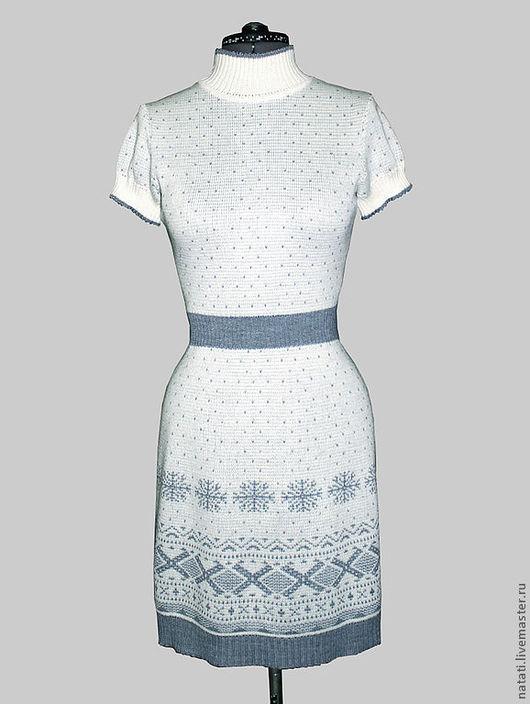 Платья ручной работы. Ярмарка Мастеров - ручная работа. Купить Платье белое со снежинкой. Handmade. Белый, Снег