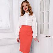 Одежда handmade. Livemaster - original item Pencil skirt in cotton jacquard 2 colors. Handmade.