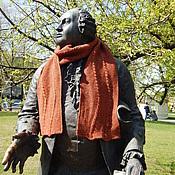 Аксессуары ручной работы. Ярмарка Мастеров - ручная работа Шерстяной шарф с узором из жгутов. Handmade.