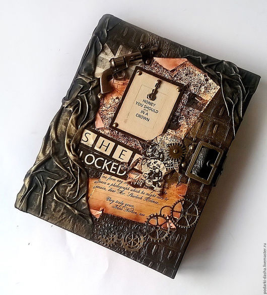 """Ежедневники ручной работы. Ярмарка Мастеров - ручная работа. Купить Ежедневник кожаный  """"Шерлок Холмс"""" сменный блок. Handmade. Коричневый"""