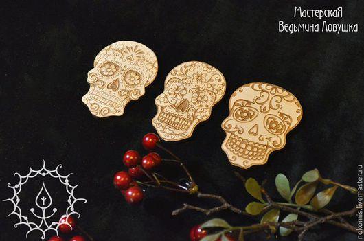 """Подарки на Хэллоуин ручной работы. Ярмарка Мастеров - ручная работа. Купить Набор украшения для Хеллоуина """"День мёртвых"""". Handmade. Белый"""
