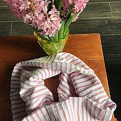 """Материалы для творчества handmade. Livemaster - original item Ткань, хлопок стрейч  """"Розовые полосы"""", Голландия. Handmade."""