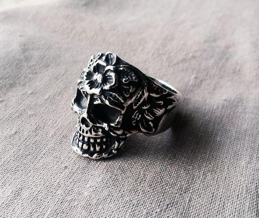 """Кольца ручной работы. Ярмарка Мастеров - ручная работа. Купить Перстень """"Dead skull"""". Handmade. Кольцо, кольцо с цветком"""