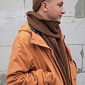Шапки ручной работы. Ярмарка Мастеров - ручная работа Комплект шапка и шарф. Handmade.