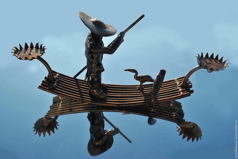 Китаец Ли Подсвечник Металл  Рыбалка Китай Баклан Полимерная глина, Подсвечники, Краснотуранск,  Фото №1