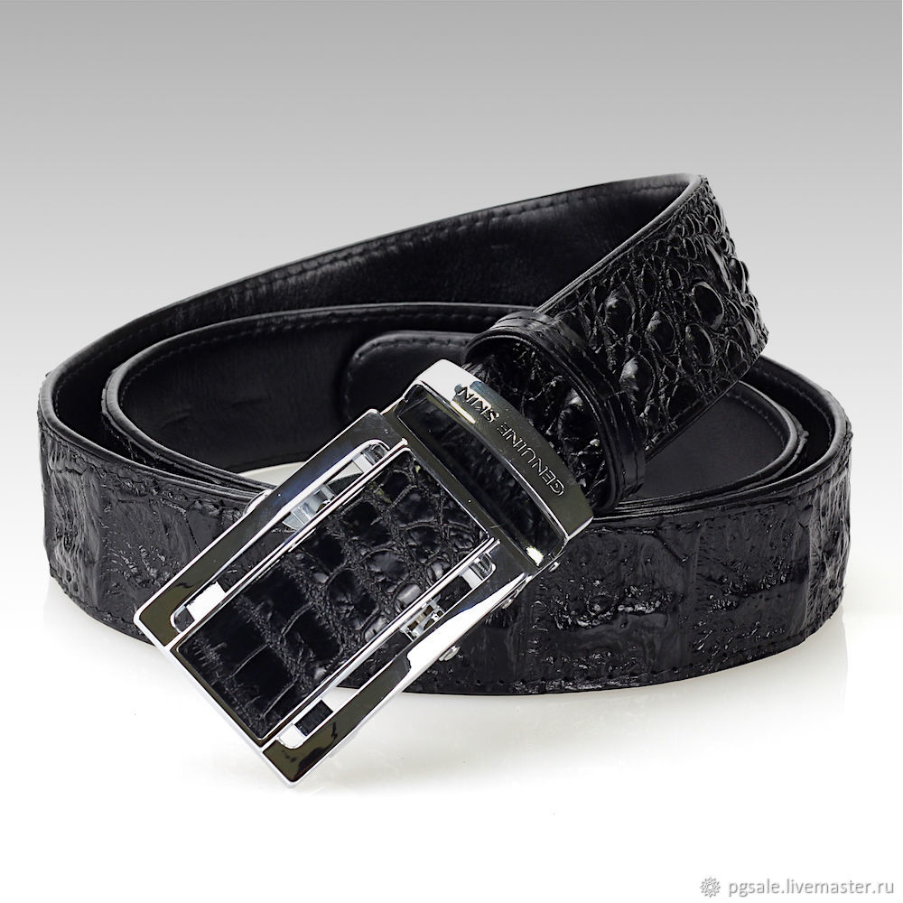 Striking genuine leather strap crocodile