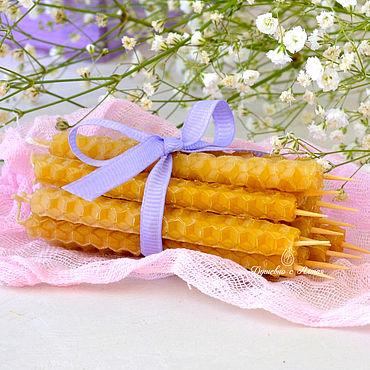 Сувениры и подарки ручной работы. Ярмарка Мастеров - ручная работа Свечи для торта из вощины. Handmade.