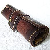 Сумки и аксессуары handmade. Livemaster - original item Copy of Holder leather Crazy Horse. Handmade.