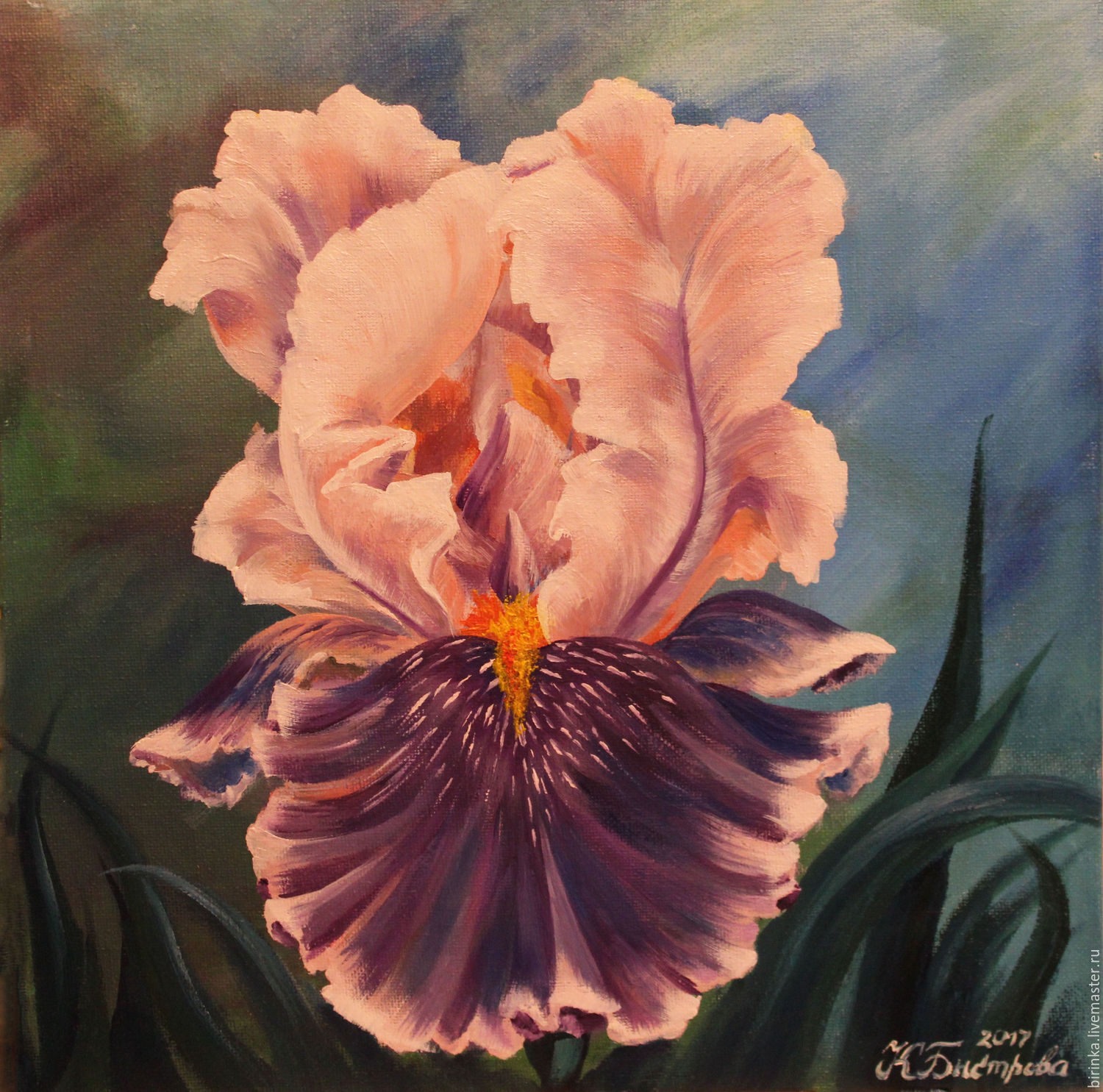 Oil painting iris shop online on livemaster with shipping flower paintings handmade livemaster handmade buy oil painting iris flower izmirmasajfo