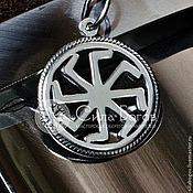 Русский стиль ручной работы. Ярмарка Мастеров - ручная работа Подвески с обережными символами из серебра в круге. Handmade.