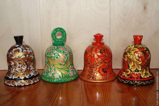 Сувениры ручной работы. Ярмарка Мастеров - ручная работа. Купить Времена года(набор колокольчиков). Handmade. Разноцветный, колокольчики расписные