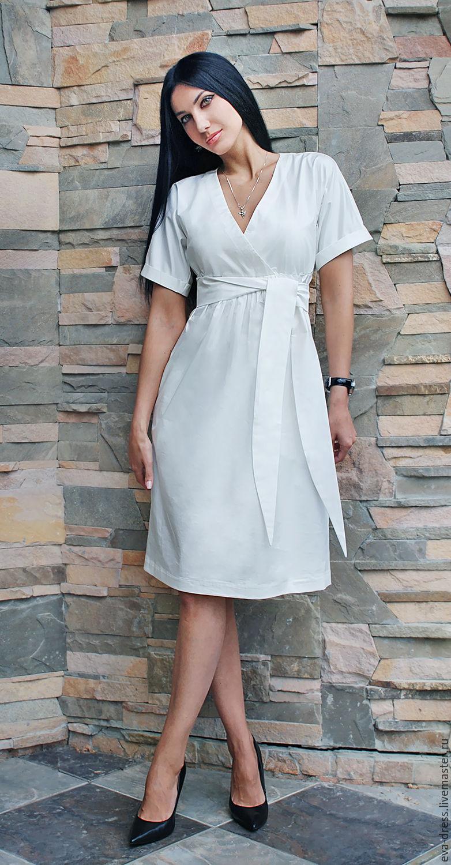 Купить Белое Платье Из Хлопка