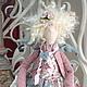 Куклы Тильды ручной работы. Ярмарка Мастеров - ручная работа. Купить Ангелочек. Handmade. Серый, ангел, хлопок американский, кружево