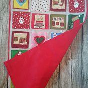 """Новогоднее настенное панно с кармашками """"Праздник в доме"""" адвент фетр"""