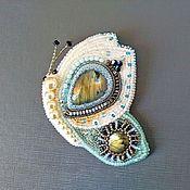Украшения handmade. Livemaster - original item Butterfly. Author`s brooch with labradorite.. Handmade.