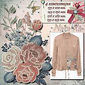 Материалы для творчества handmade. Livemaster - original item SYMPHONY OF TENDERNESS. composition №4. Design for machine embroidery.. Handmade.
