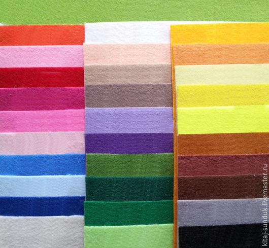 Другие виды рукоделия ручной работы. Ярмарка Мастеров - ручная работа. Купить Фетр корейский листовой 1,2 мм 30 цветов. Handmade.