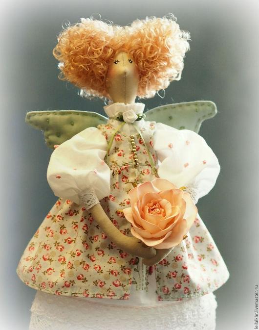 """Куклы Тильды ручной работы. Ярмарка Мастеров - ручная работа. Купить """"Аврора"""". Handmade. Мятный, кукла ручной работы, розы"""
