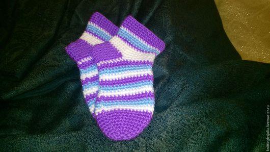 Для новорожденных, ручной работы. Ярмарка Мастеров - ручная работа. Купить Детские носочки. Handmade. Комбинированный, детская одежда, носочки