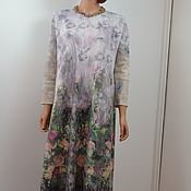 """Платье  валяное легкое  из шерсти мериноса """"Montparnasse"""""""