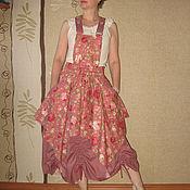 "Одежда ручной работы. Ярмарка Мастеров - ручная работа Юбка-сарафан ""Vintage roses"". Handmade."