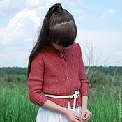 Работы для детей, ручной работы. Ярмарка Мастеров - ручная работа АКВАРЕЛИ Barberry Кардиган вязаный для девочки. Handmade.