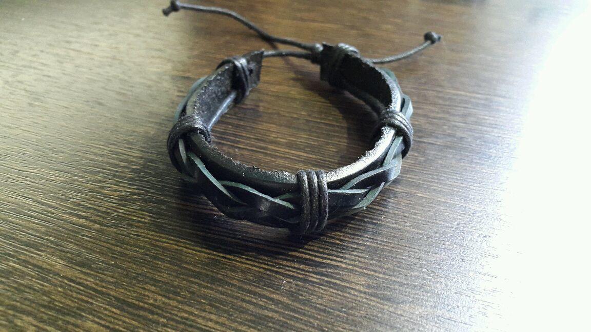 Leather bracelet, Bead bracelet, Kostroma,  Фото №1
