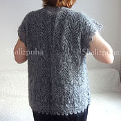 Одежда handmade. Livemaster - original item Vest cardigan hand-knitted wool, 150. Handmade.