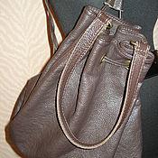 Винтаж ручной работы. Ярмарка Мастеров - ручная работа кожаная сумка рюкзак мешок. Handmade.