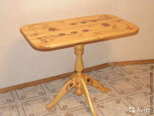 """Мебель ручной работы. Ярмарка Мастеров - ручная работа. Купить Дизайнерский стол """"ЦВЕТЫ"""". Handmade. Золотой, оригинальный, для дачи"""