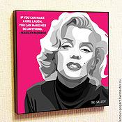 Картины и панно handmade. Livemaster - original item Picture poster Marilyn Monroe. Handmade.