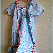 Работы для детей, ручной работы. Ярмарка Мастеров - ручная работа Хлопковое платье для девочкм. Handmade.