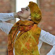 Аксессуары ручной работы. Ярмарка Мастеров - ручная работа Дизайнерский шарф и берет ручной работы. Handmade.
