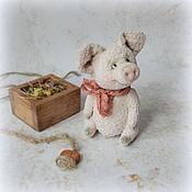 Мягкие игрушки ручной работы. Ярмарка Мастеров - ручная работа Свинка 14 см. Handmade.