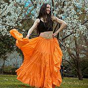 """Одежда ручной работы. Ярмарка Мастеров - ручная работа Юбка трайбл """"Сладкий апельсин"""". Handmade."""