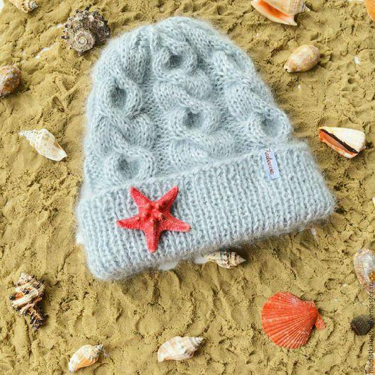 Шапки ручной работы. Ярмарка Мастеров - ручная работа. Купить Нежнейшая голубая шапка для детей. Handmade. Вязаная шапка, детская
