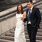 Свадебный салон ручной работы. Ярмарка Мастеров - ручная работа Свадебное платье из плотного хлопка. Handmade.