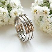 handmade. Livemaster - original item Men`s silver wedding ring (OB1). Handmade.