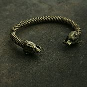 Украшения handmade. Livemaster - original item Braided bronze bracelet ,bracelet with bears. Handmade.