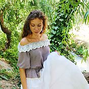 Одежда handmade. Livemaster - original item Boho blouse