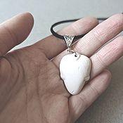 Украшения handmade. Livemaster - original item White Heart pendant, Ceramic Pendant, stylish pendant. Handmade.