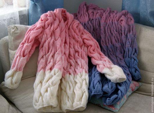 Кофты и свитера ручной работы. Ярмарка Мастеров - ручная работа. Купить Кардиган. Handmade. Разноцветный, кардиган, пальто из шерсти