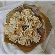 """Букеты ручной работы. Ярмарка Мастеров - ручная работа Букет """"Кофейные розы"""". Handmade."""