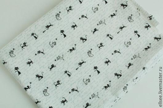 """Шитье ручной работы. Ярмарка Мастеров - ручная работа. Купить Ткань """"С котами"""" №81. Handmade. Ткани, ткани для творчества"""
