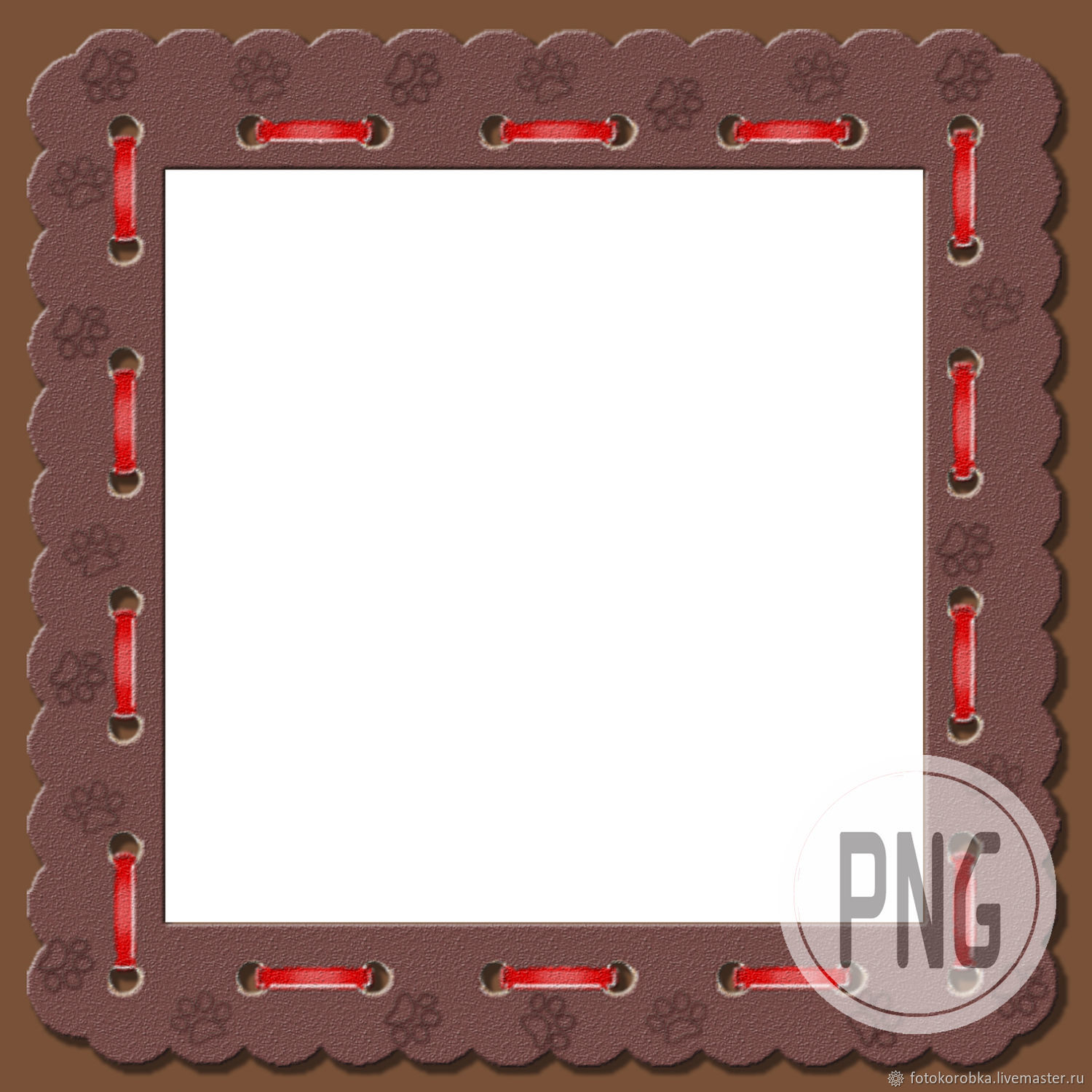 PNG photo frame - paws, Print templates, Moscow,  Фото №1