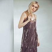 Одежда ручной работы. Ярмарка Мастеров - ручная работа Платье-комбинация из бархатного шёлка. Handmade.