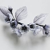 Свадебный салон handmade. Livemaster - original item Cherry twig in her hair or a brooch. Handmade.