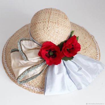 Аксессуары ручной работы. Ярмарка Мастеров - ручная работа Соломенная шляпка. Handmade.