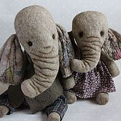 Куклы и игрушки ручной работы. Ярмарка Мастеров - ручная работа Слоники валяные. Handmade.