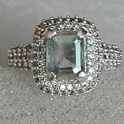 Украшения handmade. Livemaster - original item Silver moissanite ring